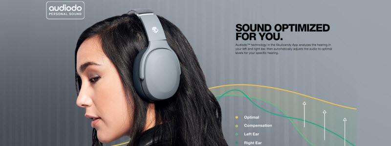 هدفون CRUSHER EVO با کمک تکنولوژی Audiodo پیش از استفاده، تست شنوایی سنجی دقیقی انجام میدهد تا صدای مخصوص در تنظیمات ذخیره گردد.